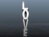 Love Heart 3d printed Side/Love