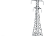Powerline tower01. HO Scale (1:87) 3d printed