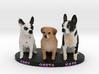 Custom Dog Figurine - Greta Abby Kate 3d printed