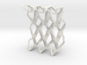 Miura Curved Rigid Tessellates Collapsible 3d printed