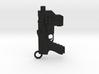Dredd Lawgiver Charm For Chain. Bracelet earrings  3d printed