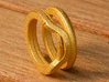 Balem's Ring1 - US-Size 5 1/2 (16.10 mm) 3d printed Ring 1 in polished gold steel (shown: size 6 1/2)