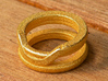 Balem's Ring1 - US-Size 8 (18.19 mm) 3d printed Ring 1 in polished gold steel (shown: size 6 1/2)