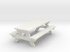 Picnic Table - 'O' 48:1 Scale 3d printed