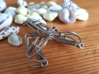 Lobster Wireframe Keychain  3d printed