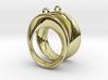 Mobius earrings 3d printed