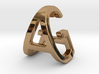 AG GA - Two way letter pendant 3d printed
