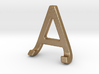 AJ JA - Two way letter pendant 3d printed