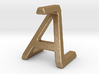 AZ ZA - Two way letter pendant 3d printed