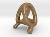 AQ QA - Two way letter pendant 3d printed