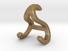 AS SA - Two way letter pendant 3d printed