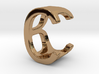 Two way letter pendant - BC CB 3d printed