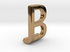 Two way letter pendant - BJ JB 3d printed