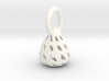 Patterned Egg Pendant 3d printed