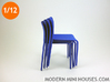 First Modern Dining Chair 1:12 scale 3d printed Stackable!