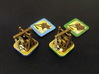 Fief - Trebuchets (rotating) (6-12 pcs) 3d printed Hand-painted White Strong Flexible. Cardboard tokens copyright Asyncron Games - Academy Games.