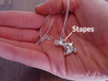 Ossicle Pendant - Stapes (right sided) 3d printed IMPORTANT: This listing is for the stapes ONLY