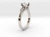 18.35 Mm Clover Diamond Ring 6.5 Mm Fit 3d printed