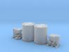 N scale 1/160 Titan Rocket container & A/C unit x2 3d printed