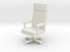 Miniature 1:48 LBJ Presidential Chair 3d printed