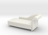 Miniature 1:48 Chaise Lounge 3d printed