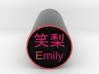 Emily Stamp Japanese Hanko backward version 3d printed