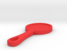 Hand Mirror Charm 3d printed