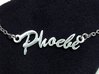 Name Necklace Pendant - Phoebe 3d printed