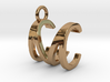 Two way letter pendant - CM MC 3d printed