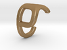 Two way letter pendant - CP PC 3d printed