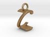 Two way letter pendant - CZ ZC 3d printed