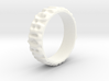 Blurred ABC Ring Size 9.75 3d printed