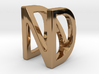 Two way letter pendant - DN ND 3d printed