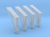 Hold Down Struts Airfix 1:144- 4 Pack 3d printed