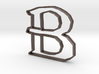 Typography Pendant B 3d printed