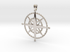 Compass Rose Pendant 3d printed