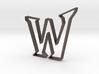 Typography Pendant W 3d printed