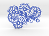 Pattern Flowers Necklace 3d printed