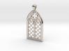 Gothic Window Pendant (L) 3d printed