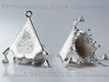 Tetrahedral Love Container Pendant 3d printed