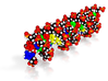 """Custom DNA Molecule Model """"Magdalena"""" Size Large 3d printed"""