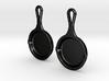 Skillet Earrings 3d printed