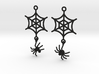 Spider Web with Spider Earrings 3d printed