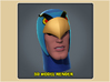 1:6 Scale Blue Falcon Head 3d printed