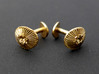 Coccolithus Cufflinks  3d printed Coccolithus cufflinks in raw bronze