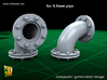 PIPELINE- valve No.2 & elbow (9,5mm) 3d printed Vale No.2 + Elbow - elbow close-up
