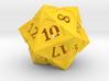 'Starry' D20 Gaming die LARGE 3d printed