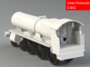 GWR Saint class locomotive, 2mm FS 3d printed Rendering - Rear