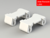 GWR 2 cylinder block (x2), 2mm FS 3d printed Rendering
