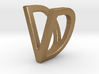 Two way letter pendant - DV VD 3d printed